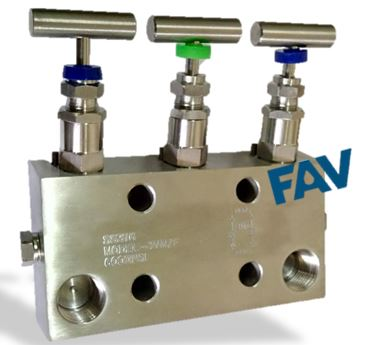 3 Way Manifold Valve ,Coplanar Type
