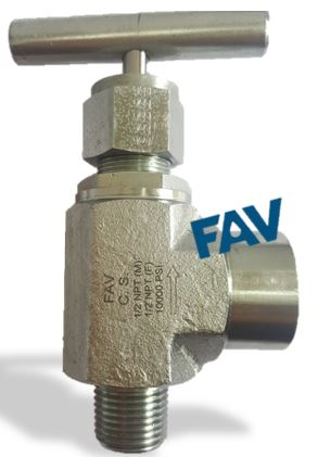 Angle Needle Valve 10000 psi,Forged Type, Male X Female