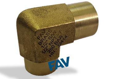 Brass Elbow Socketweld SW X NPTF