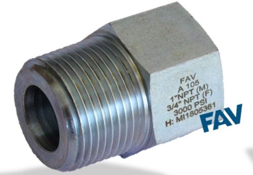 Carbon Steel A105 Hex Adaptor Male X Female NPT NPT