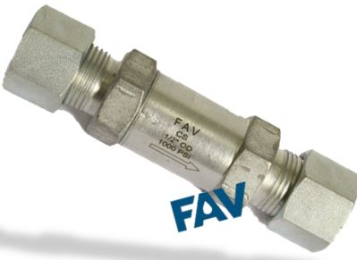 Check Valve Compression Tube Double Ferrule