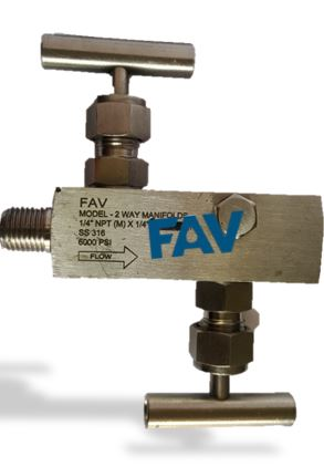 Gauge Block and Bleed Valve ,Male X Female