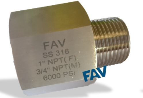 Hex Adapter NPT Male X NPT Female
