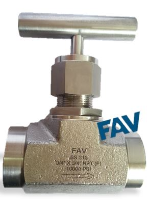 Needle Valve 10000 psi,Forged Type, Female X Female