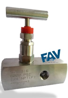 Needle Valve Guage Type with 4 ports