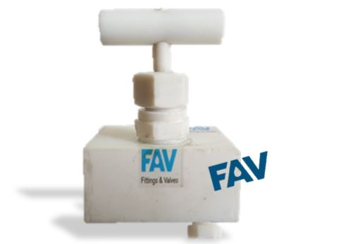 PTFE Needle Valve with Vent Plug