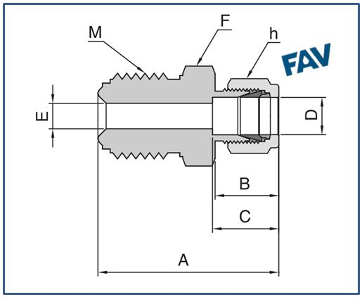 Connector Metal Face Seal fittings