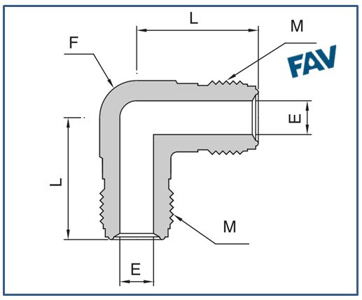 Union Elbow Metal Face Seal Fittings