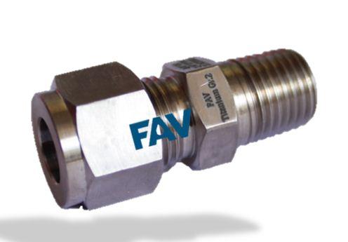 Titanium Male Connector