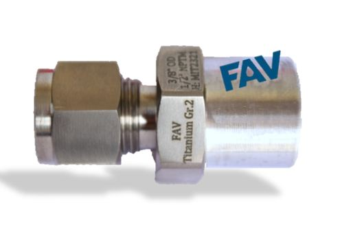 Titanium GR 2 Male connector
