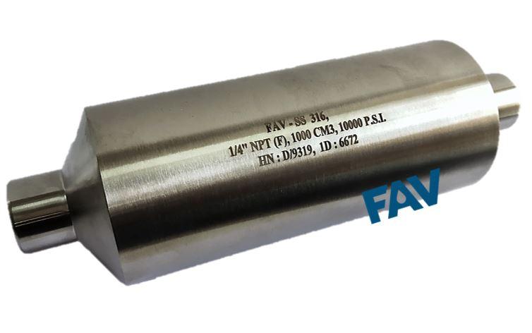 Sampling Cylinder 15000 psi