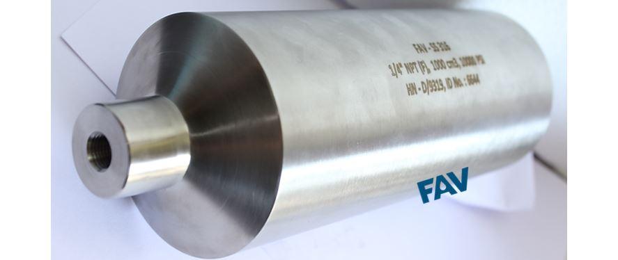 High Pressure Sample Cylinders