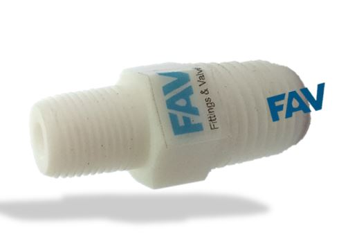 Teflon Hex Reducing Nipple